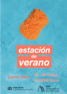 Carlos Silva Exhibition Estacion de verano Dynamo Zurich 2018