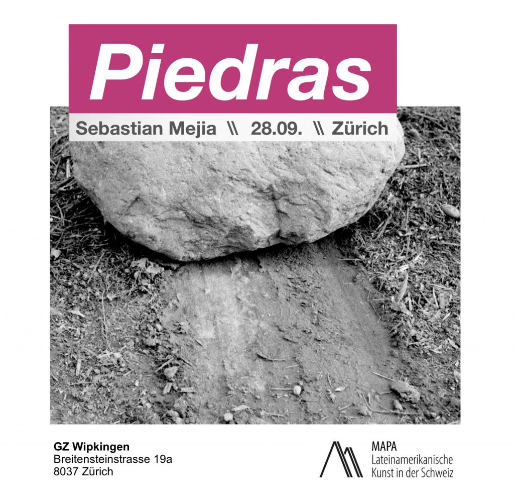 Exhibition Sebastian Mejia Piedras Book Werbung