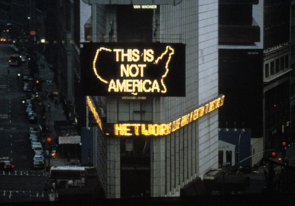 Alfredo Jaar A Logo for America, 1987 Video Art Latin American Landscape MAPA Videojournée Cabaret Voltaire