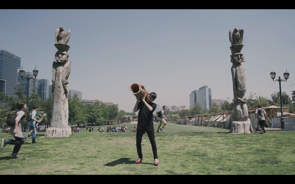 "MAPA Videojournée Cabaret Voltaire Zurich Landscape Latin American Art Video Mapuche Sebastian Calfuqueo, Still from ""Alka Domo"", 2017"
