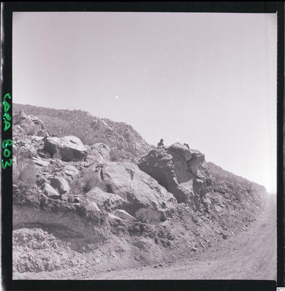 Luis Ladrón de Guevara, Prospección minera en el mineral de hierro (Iron Ore Mining Exploration), contact print, ca. 1965, Biblioteca Nacional de Chile.