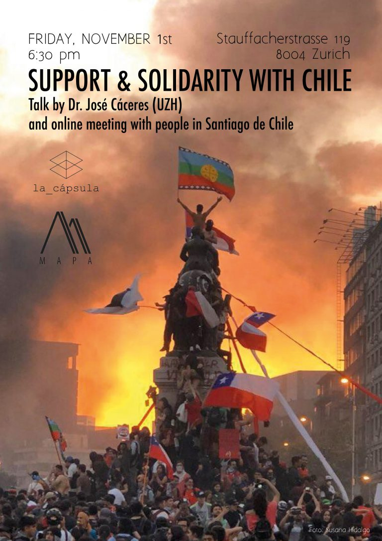 Chile Crisis Solidarity Support Human Rights Event La_capsula live transmission artist rebellion civil unrest inequality neoliberlism