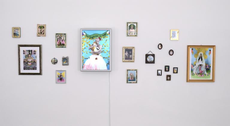 installation Tart Zürich Bodies Cultures Zaida Gonzalez Tarot Trans collage frames