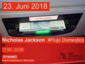 Nicholas Jackson Flujo Domestico Exhibition Art Dynamo Zurich 2018