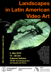 Video Journee Poster Latin American Art Nature Video Cabaret Voltaire video screening